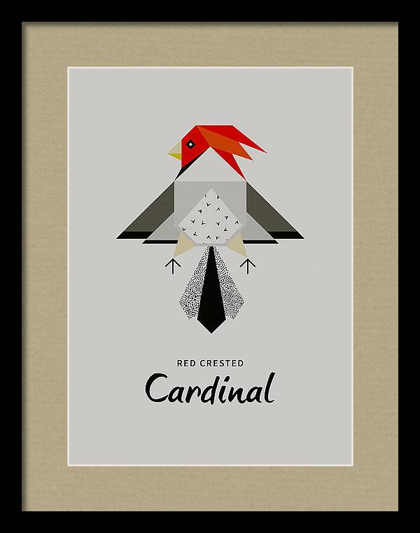Red-Crested Cardinal Minimalist by BONB Creative