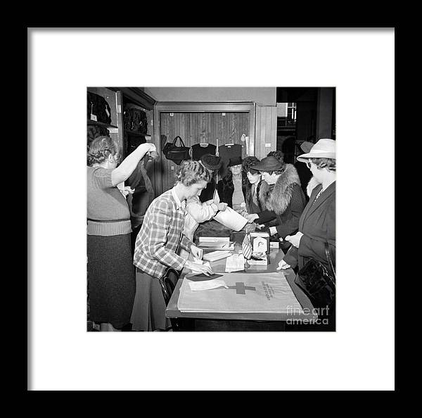 1941 Framed Print featuring the photograph Red Cross, 1941 by Granger