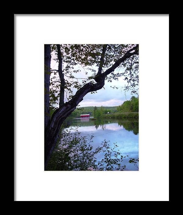 Red Dam Framed Print featuring the photograph Red Dam In Summer #1 by Dorothea Abbott