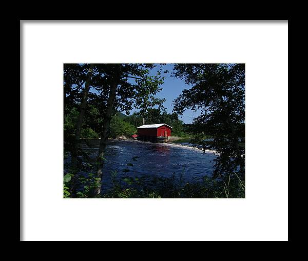 Red Dam Framed Print featuring the photograph Red Dam In Summer #2 by Dorothea Abbott