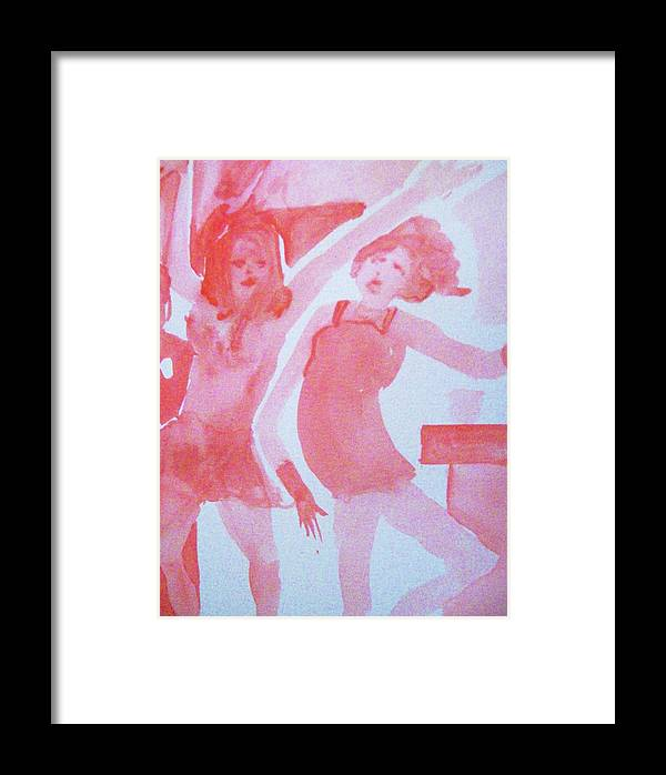 Red Framed Print featuring the painting Red Dance by James Christiansen