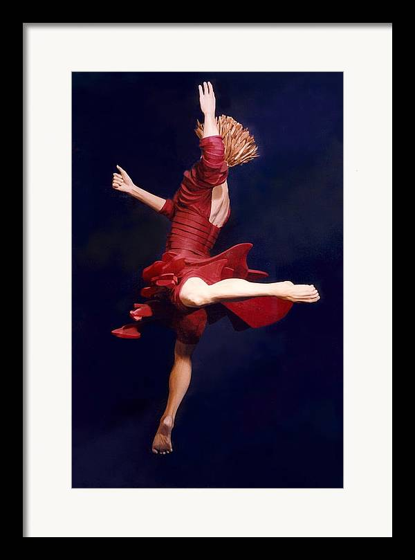 Dance Framed Print featuring the sculpture Red Dancer Back View by Gordon Becker
