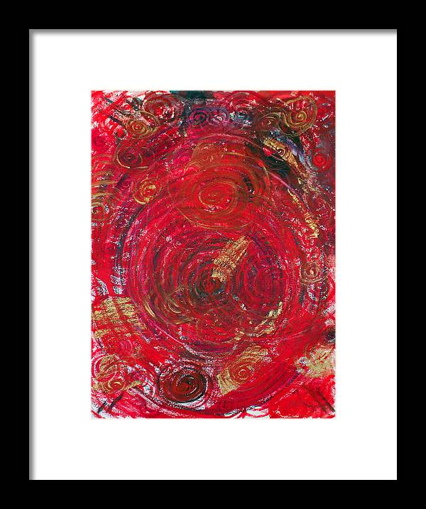 Symbolism Framed Print featuring the painting Red Energy by Erika Brown