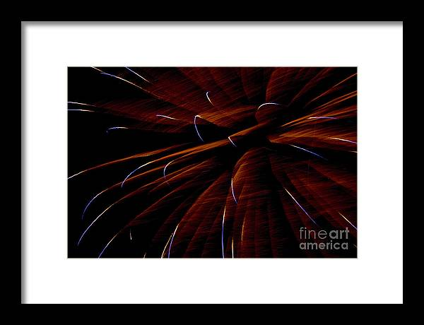 Fireworks Framed Print featuring the photograph Red Flare by Jeannie Burleson