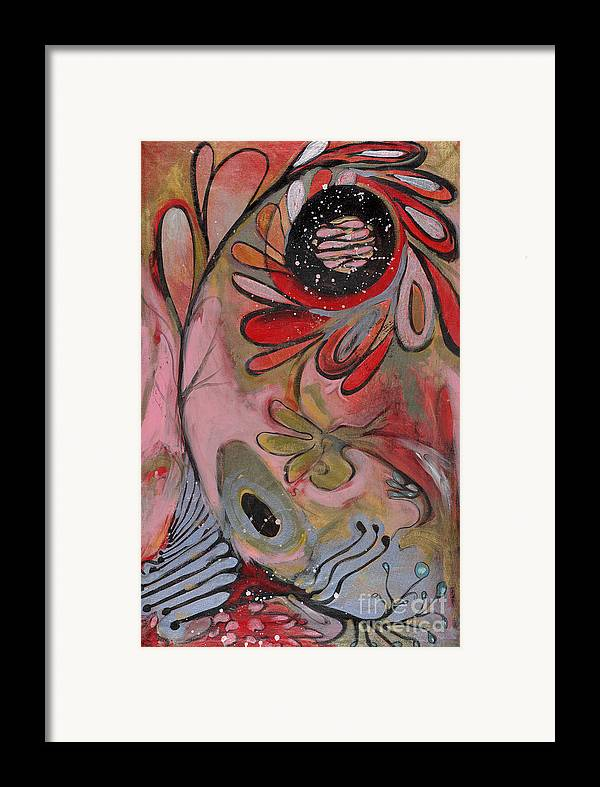 Painting Framed Print featuring the painting Red Flower by Michelle Spiziri