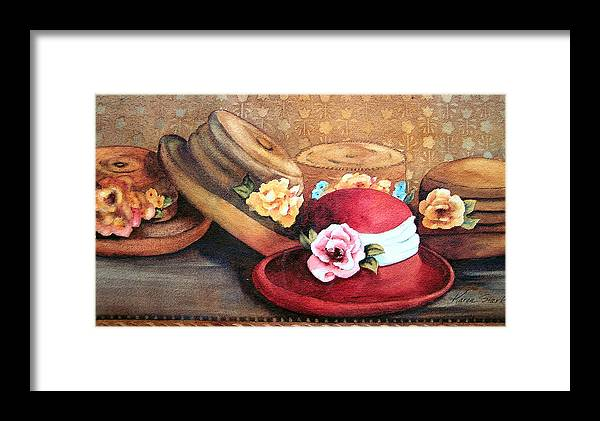 Hat Framed Print featuring the painting Red Hat by Karen Stark
