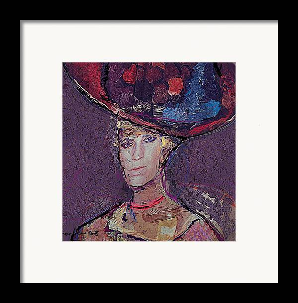 Hat Framed Print featuring the painting Red Hat by Noredin Morgan
