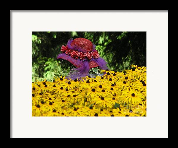 Red Hat Framed Print featuring the photograph Red Hat Parade by Louise Magno