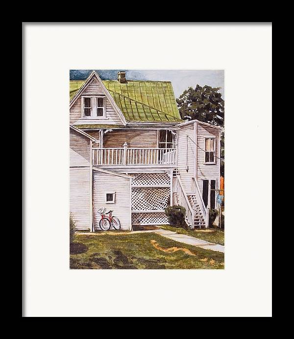 Appalachia Framed Print featuring the painting Red Hope by Thomas Akers