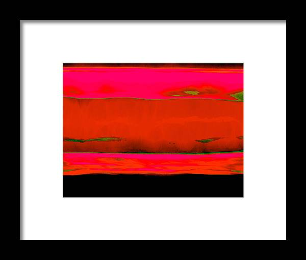 Red Framed Print featuring the painting Red Horizon by Vicky Brago-Mitchell