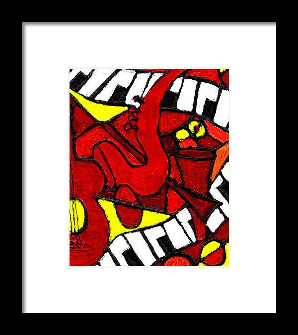 Jazz Framed Print featuring the painting Red Hot Jazz by Wayne Potrafka