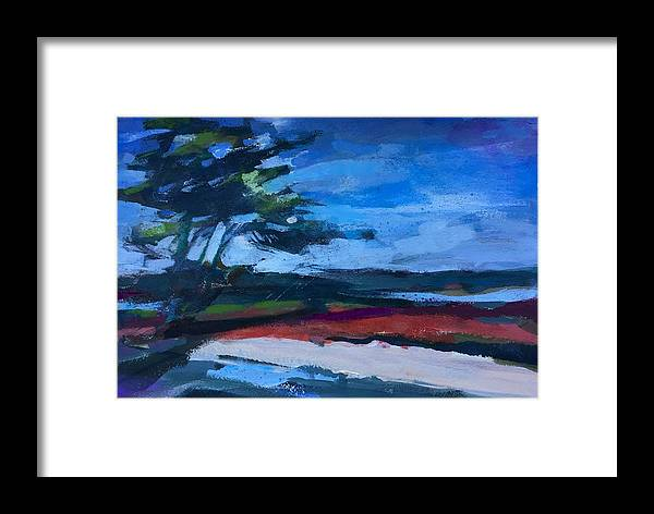 California Coast Framed Print featuring the painting Red Iceplant by Janis Commentz