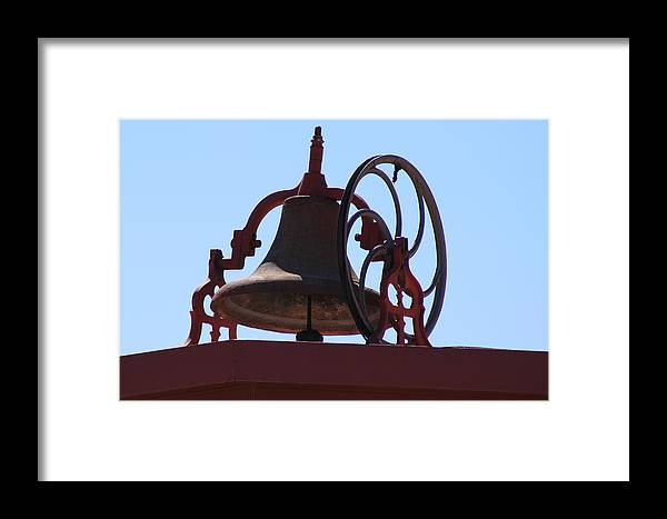 Red Iron Bell Framed Print featuring the photograph Red Iron Bell by Colleen Cornelius