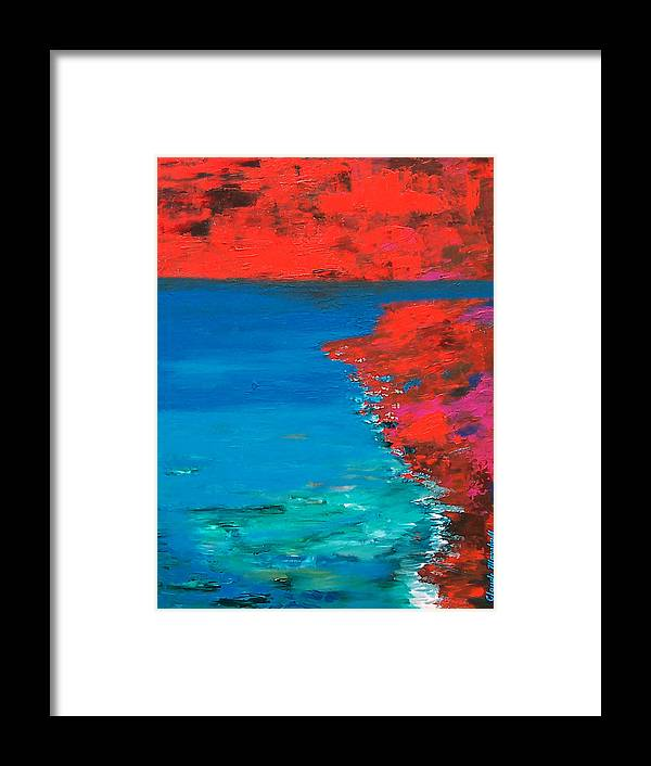 Art Framed Print featuring the painting Red Island by Claude Marshall