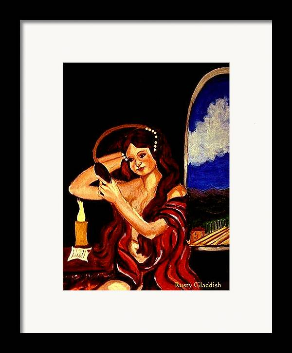 Renaissance Framed Print featuring the painting Red Letter Day by Rusty Woodward Gladdish