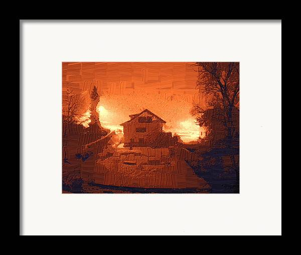 Landscape Framed Print featuring the photograph Red Morn by Chuck Shafer