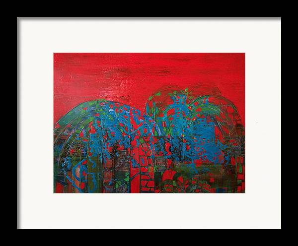 Landscape Framed Print featuring the print Red Nights by Meltem Quinlan
