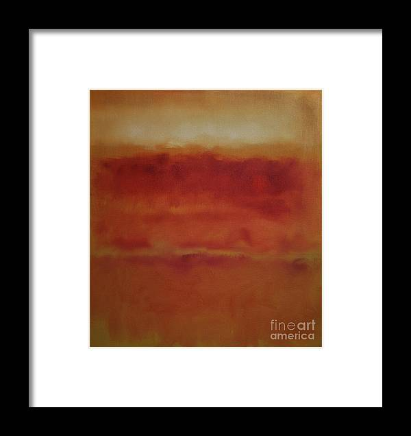 Rothko Framed Print featuring the painting Red On Ochre 2 by John Welsh