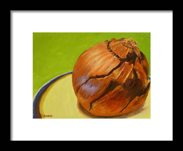 Red Onion Framed Print featuring the painting Red Onion by Steven Guy Bilodeau