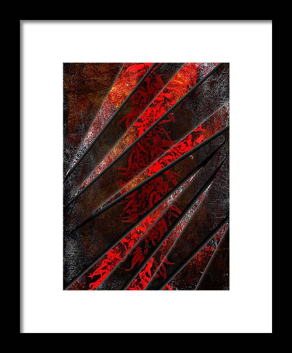 3d Framed Print featuring the digital art Red Pepper Abstract by Svetlana Sewell