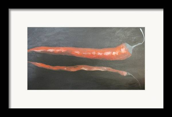 Still-life Framed Print featuring the painting Red Pepper by Angelo Thomas