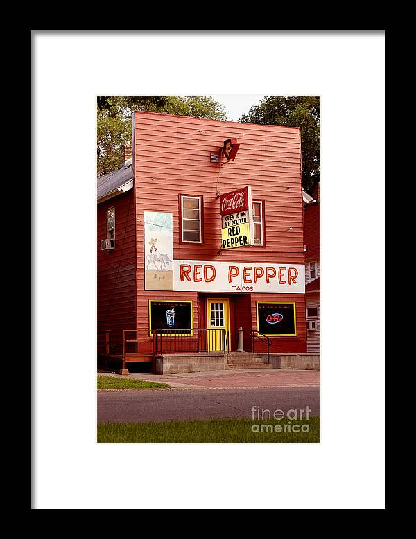 Redpepper Framed Print featuring the photograph Red Pepper Restaurant by Steve Augustin