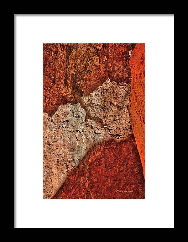 Abstract Framed Print featuring the photograph Red, Pink And Orange by Catherine Pearson