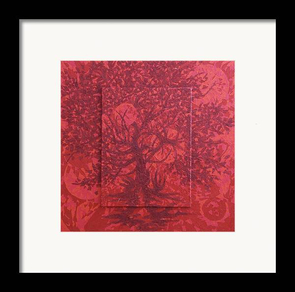 Red Framed Print featuring the painting Red Planet by Judy Henninger