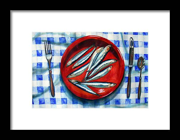 Still Life Framed Print featuring the painting Red Plate Special by Gail Zavala