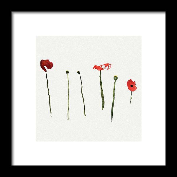 Poppy Framed Print featuring the painting Red Poppies by Stephanie Peters