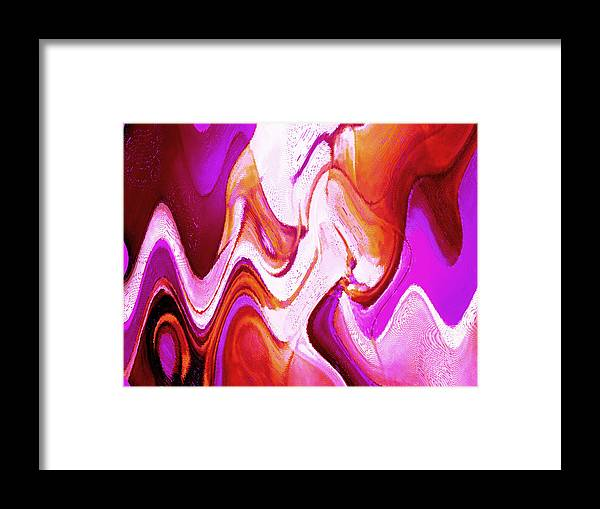 Red Framed Print featuring the painting Red Purple by Vicky Brago-Mitchell