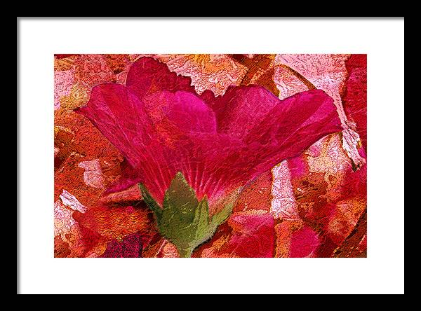 Flower Framed Print featuring the digital art Red Queen by Tom Romeo