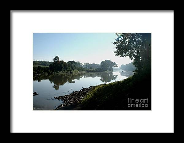 Landscape Framed Print featuring the photograph Red River Of The North by Steve Augustin