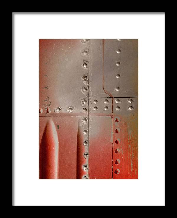 Red Framed Print featuring the photograph Red Rivets by Alistair Cowan