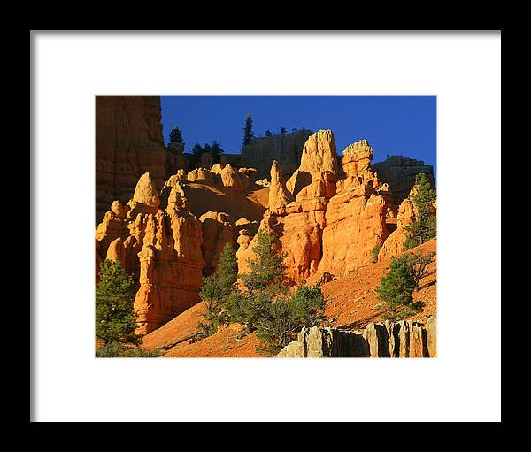 Red Rock Canyon Framed Print featuring the photograph Red Rock Canoyon At Sunset by Marty Koch