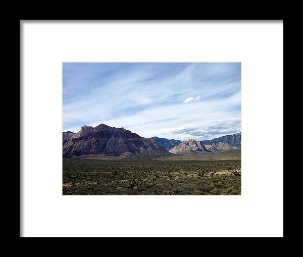 Red Rock Canyon Framed Print featuring the photograph Red Rock Canyon 4 by Anita Burgermeister