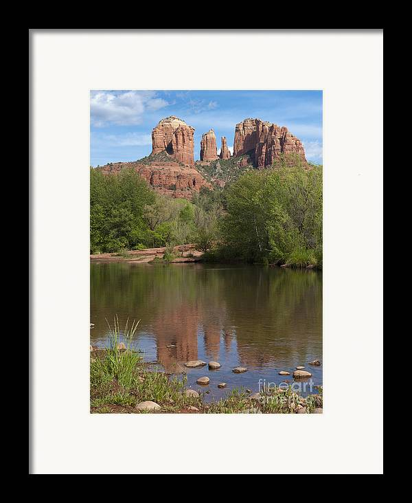 Southwest Framed Print featuring the photograph Red Rock Crossing In Sedona by Sandra Bronstein