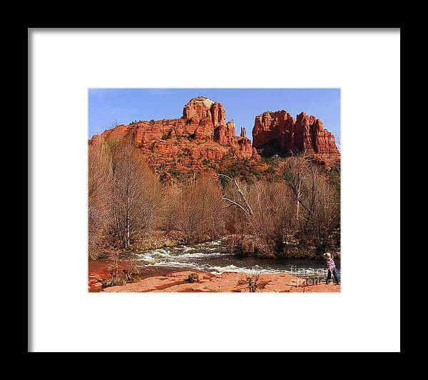 Red Rock Crossing Framed Print featuring the photograph Red Rock Crossing Sedona Arizona by Marilyn Smith