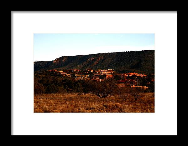 Landscape Framed Print featuring the photograph Red Rock Village by Jennilyn Benedicto