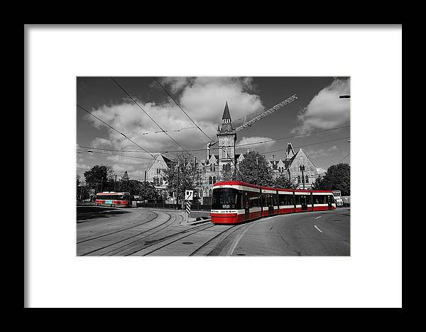 Streetcar Framed Print featuring the photograph Red Rocket 43c by Andrew Fare