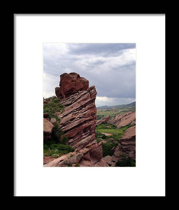 Red Rocks Framed Print featuring the photograph Red Rocks Colorado by Merja Waters