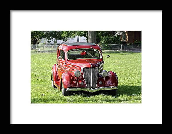 Framed Print featuring the photograph Red Rod by Jim Simms