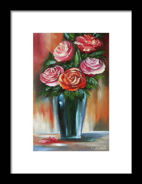 Red Rose Painting Oil On Canvas Rose Painting Flower Rose Flower