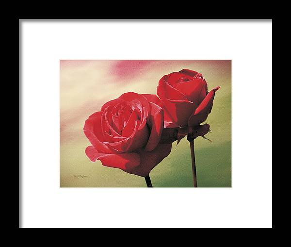 Roses Framed Print featuring the painting Red Roses by Jan Baughman