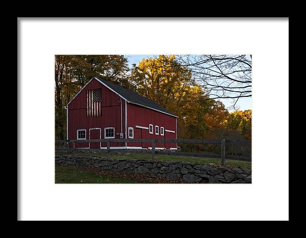 Barn Framed Print featuring the photograph Red Rustic Barn by Susan Candelario