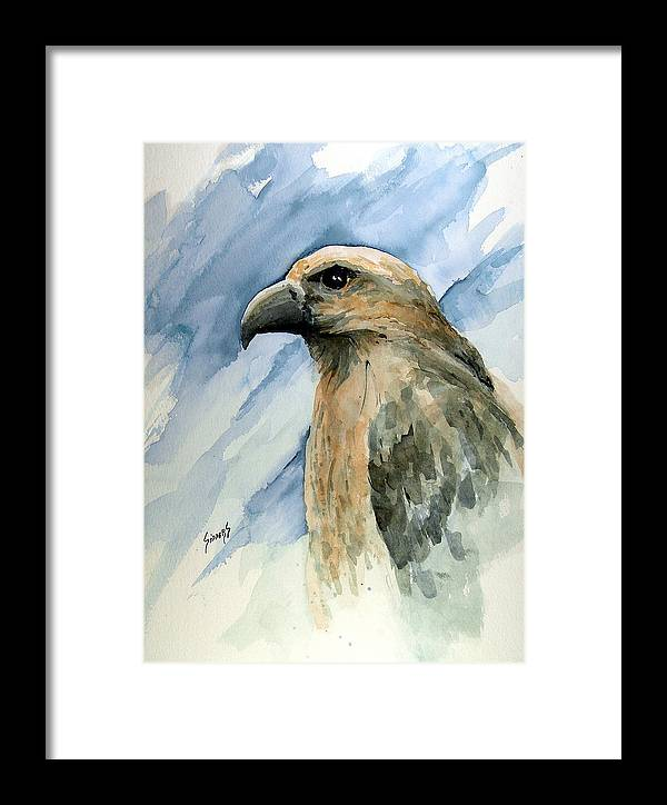 Bird Framed Print featuring the painting Red by Sam Sidders