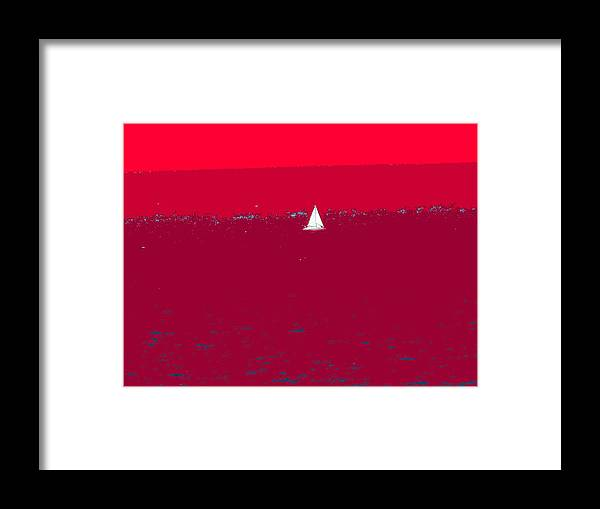 St Kitts Framed Print featuring the photograph Red Sea by Ian MacDonald