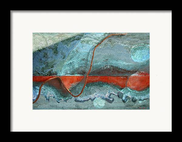 Photopainting Framed Print featuring the digital art Red Shape by Helga Schmitt
