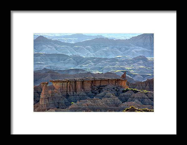 Badlands Framed Print featuring the photograph Red Shirt Formation by Bonfire Photography