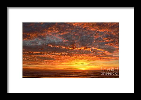 Northwest Framed Print featuring the photograph Red Skies at Night by Larry Keahey